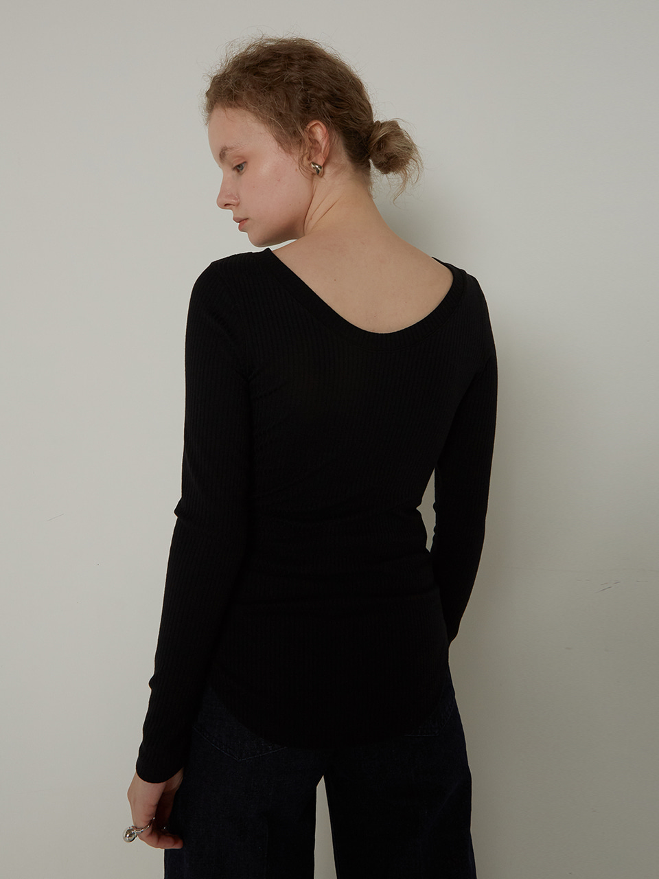 BOAT NECK T-SHIRTS_BLACK