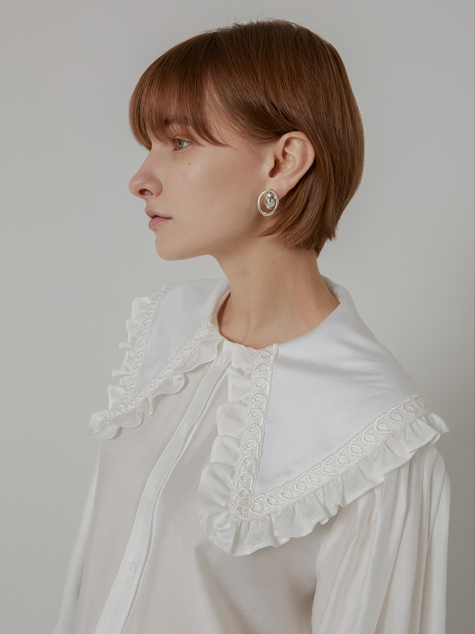SAILOR KARA TENSEL BLOUSE_WHITE