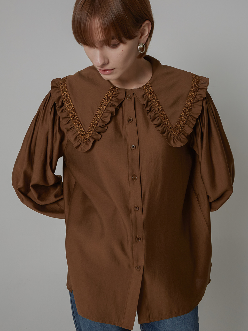 SAILOR KARA TENSEL BLOUSE_BROWN