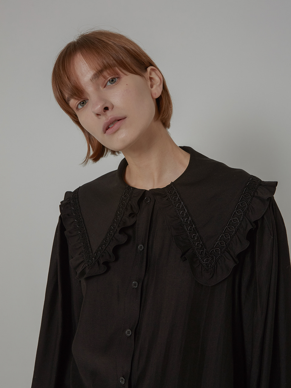 SAILOR KARA TENSEL BLOUSE_BLACK